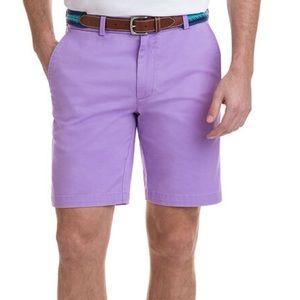 Vineyard Vines purple flat front shorts preppy 33